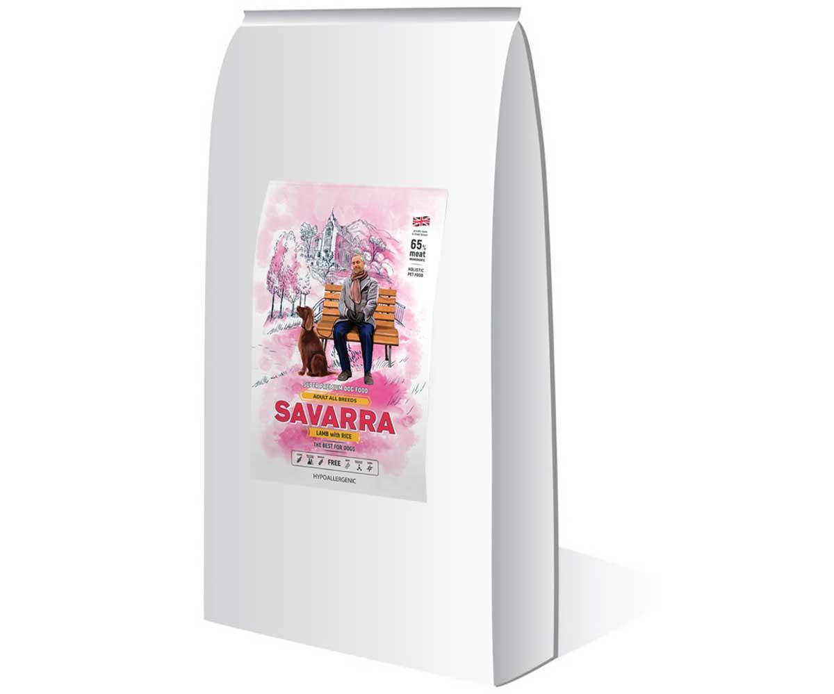 Гипоаллергенный Сухой Корм Savarra (Савара) Adult All Breed Lamb & Rice Для Собак Всех Пород с Ягненком и Рисом 18кг 5649053