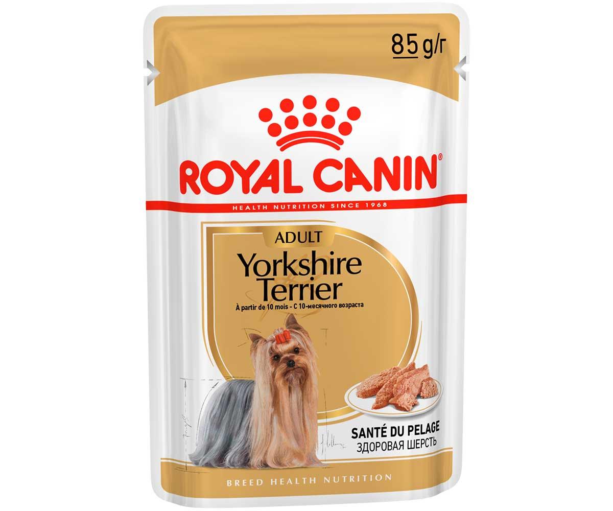 Влажный Корм Royal Canin (Роял Канин) Для Собак Породы Йоркширский Терьер Breed Health Nutrition Yorkshire Terrier Wet 85г Паштет (1*12)