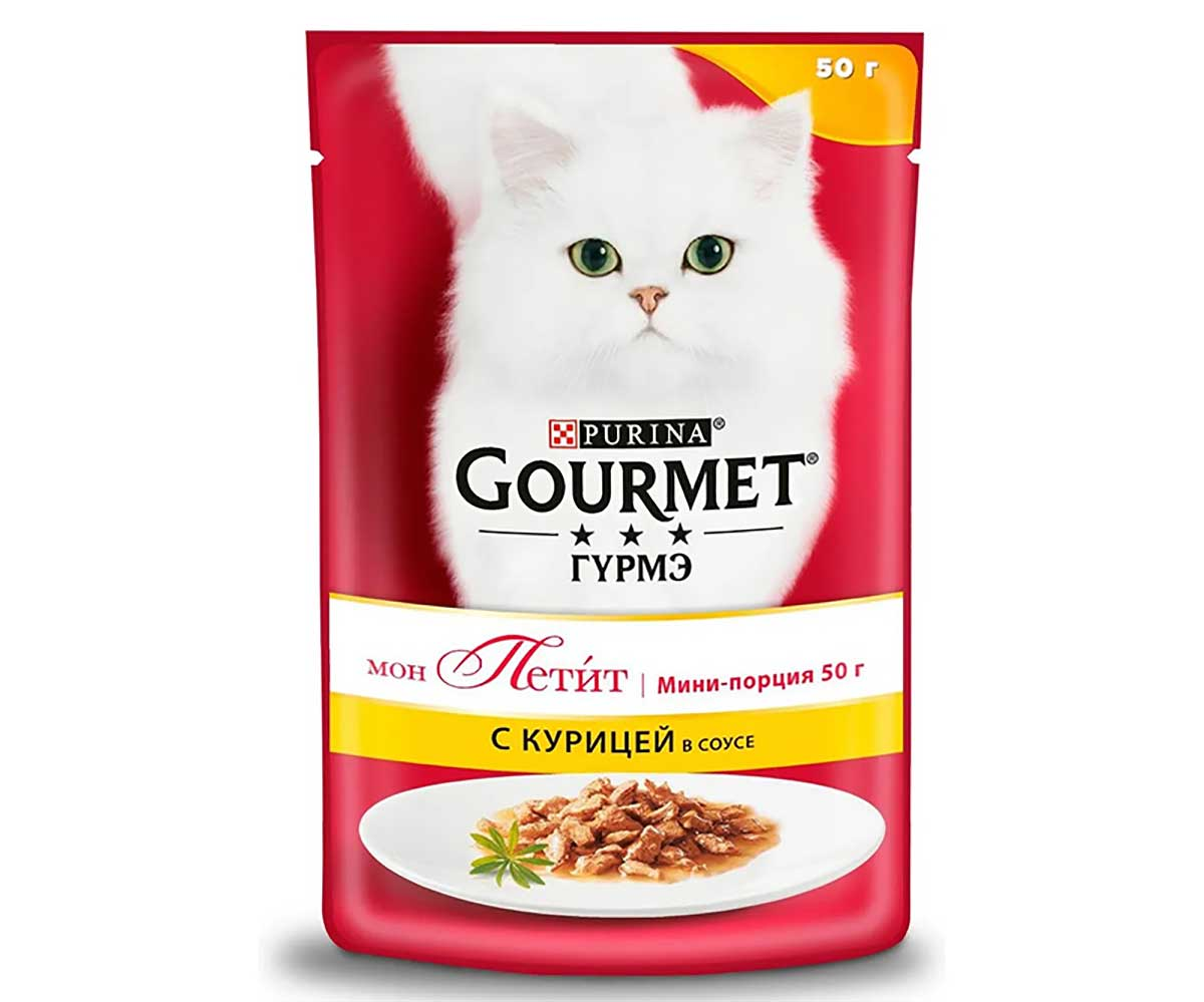 Влажный Корм Gourmet (Гурме) Mon Petit Для Кошек Курица 50г (1*30)