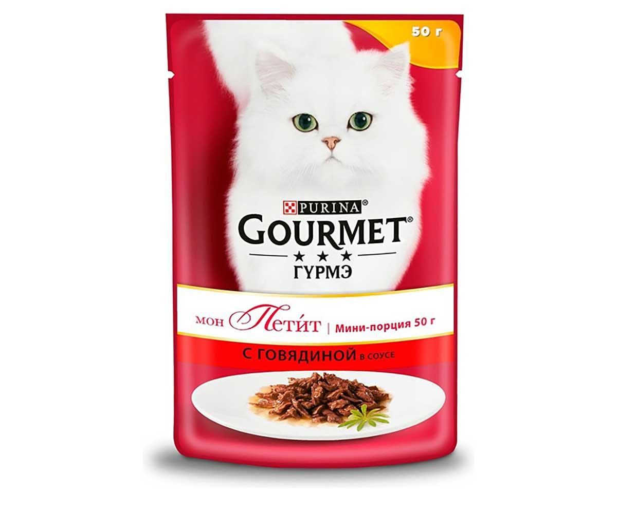Влажный Корм Gourmet (Гурме) Mon Petit Для Кошек Говядина 50г (1*30)