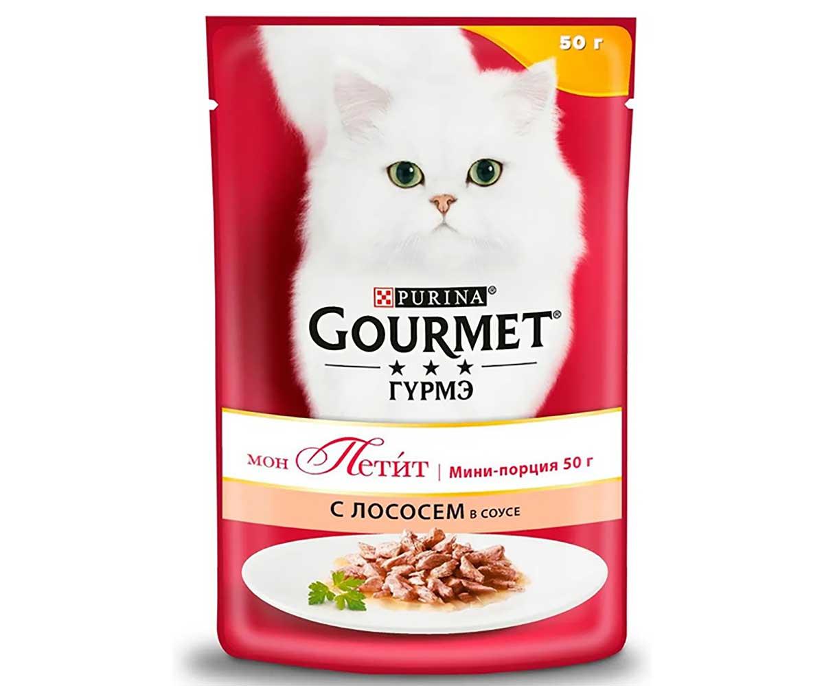 Влажный Корм Gourmet (Гурме) Mon Petit Для Кошек Лосось 50г (1*30)