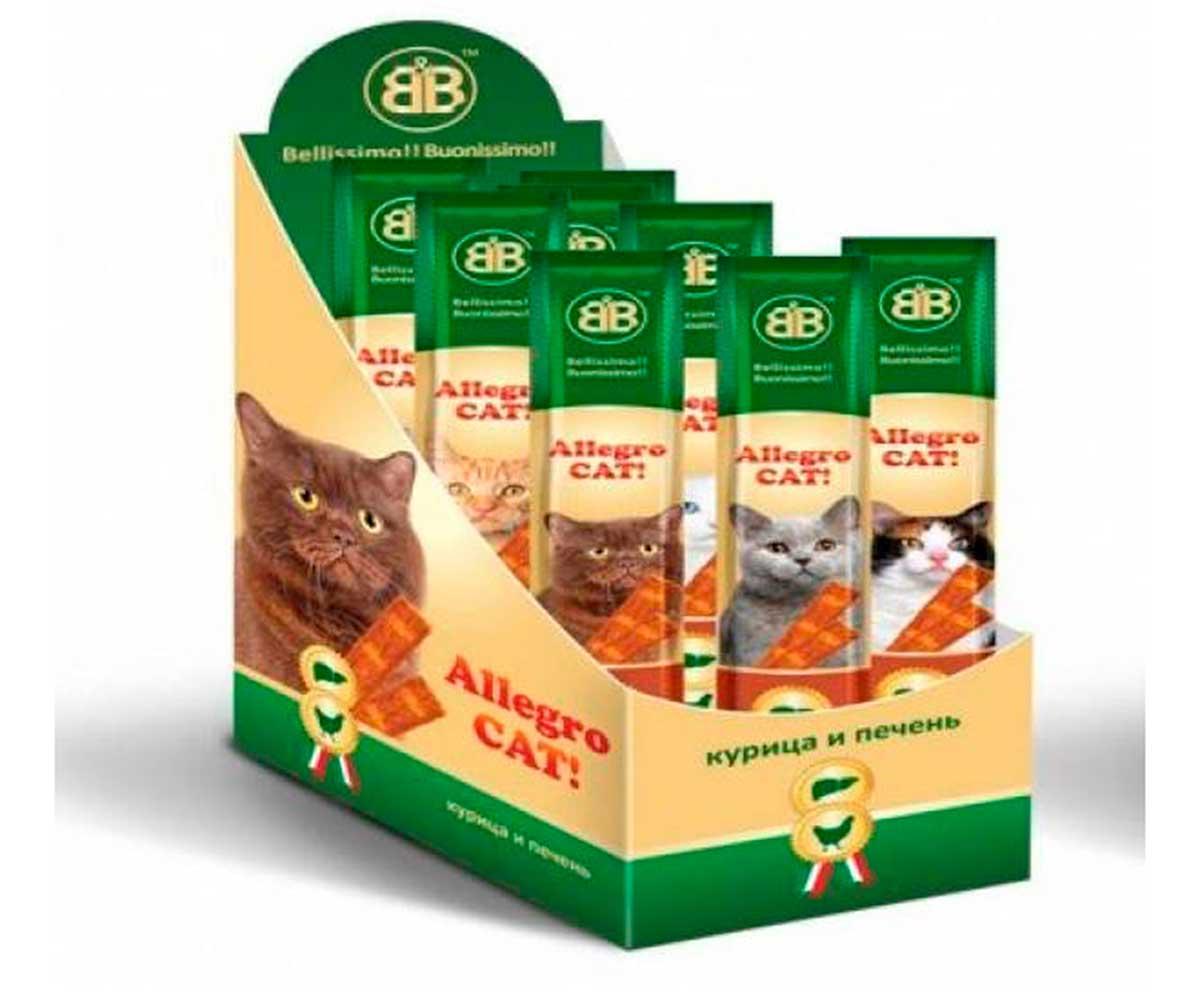 Колбаски Для Кошек Allegro Cat (Аллегро Кэт) Курица с Печенью B&B 1шт 5г