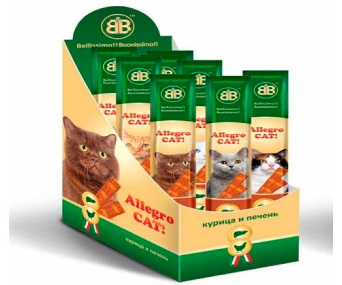 Колбаски Для Кошек B&B Allegro Cat (Аллегро Кэт) Курица+Печень 60шт